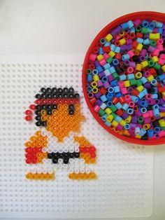 Pattern for pearler beads karate boy