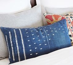 Find throw and accent pillows from Pottery Barn to easily update your space. Shop our pillow collection to find decorative pillows in classic styles, prints and colors. White Linen Bedding, Bed Pillows, Shibori Pillows, Pillows, Lumbar Pillow Cover, Pillow Covers, Pillow Texture, Blue Duvet Cover, Decorative Pillows