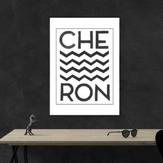 A cool geometric chevron design art print in black and white. A wonderful print to frame that will work well in any modern interior design home Modern Interior Design, Modern Decor, Design Art, Chevron, House Design, Black And White, Art Prints, Frame, Home Decor