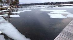 Ice mosaic in Paugus Bay, Lake Winnipesaukee, Laconia NH