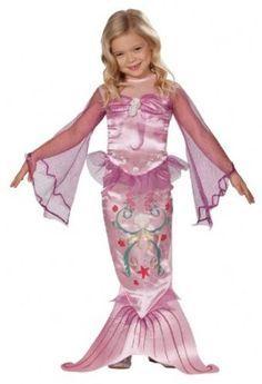 Kinder Kostüm kleine Meerjungfrau in pink Größe M für Kinder von 5 bis 7 Jahren
