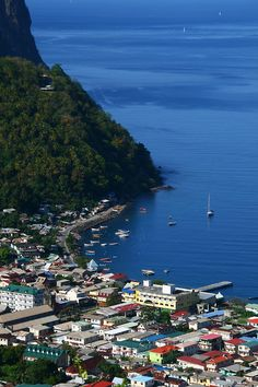 Soufriere - an idyllic little town - St Lucia, Caribbean Places Around The World, Oh The Places You'll Go, Great Places, Places To Travel, Around The Worlds, Vacation Destinations, Dream Vacations, Vacation Spots, Santa Lucia