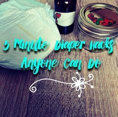 5 minute Diaper Hacks anyone can do, diaper hacks, #lifehack, disposable diaper uses, diaper gel uses, hydrogel, diapers, baby hacks