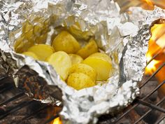 A tasty way to make mini baked potatoes on the barbecue! A great side dish for any BBQ menu.