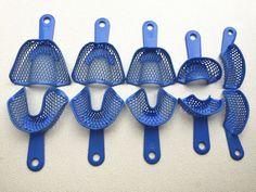 10pcs Dental Impression Trays Denture Instruments Plastic-Steel #Shiand2014