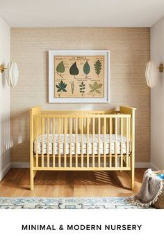 Bring baby home to a beautiful nursery that looks as modern as the rest of your home. Baby Furniture, Future House, Baby Room, Cribs, Minimalism, Modern Design, Nursery, Modern Kids, Kids Rooms