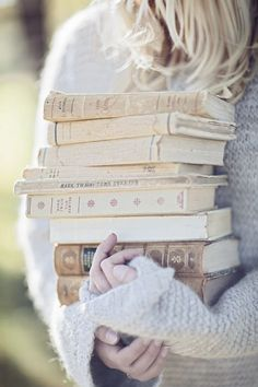 There is no lighter burden than an armload of unread books.