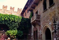 "Supposedly The REAL Juliet Balcony from ""Romeo & Juliet"" in Verona."