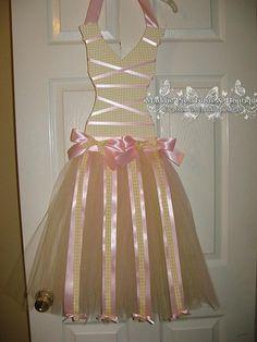 Ballerina Tutu Dress Bow Holder by MaddiePiesBoutique on Etsy, $30.00
