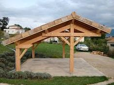 , - - Gazebo de sombra de pérgola - Pérgola cubierta con chimenea - When age-old around thought, the particular p. Pergola Carport, Wood Pergola, Small Pergola, Backyard Pergola, Pergola Shade, Outdoor Pergola, Deck Gazebo, Wisteria Pergola, Carport Garage
