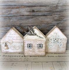 Sweet little houses from'junktojoyshop'