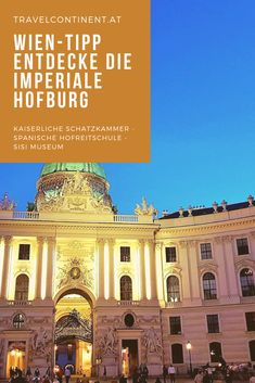 #Wien hat imperiales Flair! Tipps für die kaiserliche Hofburg mit dem Sisi #Museum, Schatzkammer, Spanische Hofreitschule, Heldenplatz u.v.m. #städtetrip #reisen #reiseziele Taj Mahal, Louvre, Museum, Mansions, House Styles, Building, Travel, Vienna, Horseback Riding