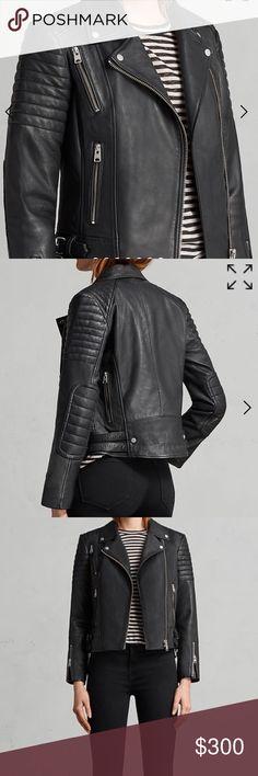 AllSaints Papin Leather Biker Jacket Authentic AllSaints Black Papin Leather Jacket.  Size 2, fits also a size 4. Worn but in good condition. AllSaints Jackets & Coats