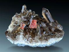 Fluorite with Smoky Quartz - Zinggenstock, Grimsel, Haslital, Berner Oberland, Switzerland Size: 14.7 x 10.5 x 8.5 cm