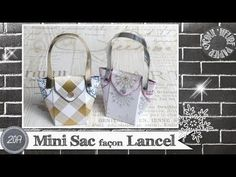 Coul'Heure Papier: Mini Sac façon Lancel [Tutoriel] Photo Album Scrapbooking, Scrapbooking Youtube, Pillow Box, Stampin Up, Louis Vuitton Damier, Envelope, Tote Bag, Blog, Hui