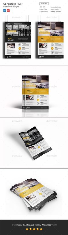 Corporate Flyer Template PSD #design Download: http://graphicriver.net/item/corporate-flyer/14079832?ref=ksioks