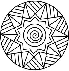 Mandalas bring relaxation and comfort to adults all over the world. Mandalas are one of our favorite things to color. Kids can color them too! We have some more simple mandalas for kids to color. Mandalas for Kids Geometric Coloring Pages, Easy Coloring Pages, Printable Adult Coloring Pages, Mandala Coloring Pages, Coloring Pages For Kids, Coloring Sheets, Coloring Books, Kids Coloring, Mandala Design