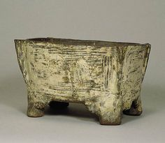 White slip inlaid Joseon vessel, mid 15th century, Korea