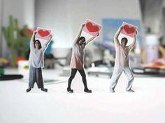 披露宴 ムービー コマ撮りアニメーション stop motion - YouTube