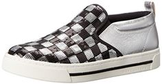 Marc Jacobs Womens Mercer Slip On Skate Fashion Sneaker BlackSilver 38 EU8 M US *** Check out the image by visiting the link.