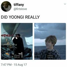 Yoonmin is sailing (literally)