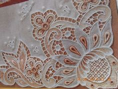 Gorgeous Vintage Linen and Lace Tray Cloth by Jenneliserose, $18.00 - Google Search - Google Search