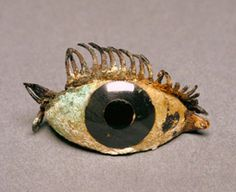 Right Eye from a Statue, Greek, 500–100 B.C., marble, obsidian, glass, and copper