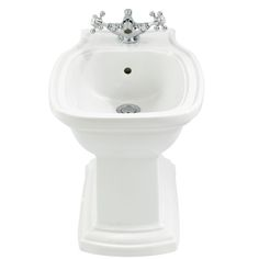 The Henley bidet is exclusive to C.P. Hart and is perfect for traditional style bathrooms. http://www.cphart.co.uk/bidets/free-standing/ #bidets #bidet #bathrooms #traditional