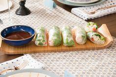 Giadzy by Giada De Laurentiis Crab Recipes, Ww Recipes, Appetizer Recipes, Cooking Recipes, Giada Recipes, Coctails Recipes, Vegetarian Recipes, Summer Rolls, Spring Rolls