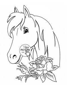 horse coloring pages Toddler fun Pinterest Horse Toddler