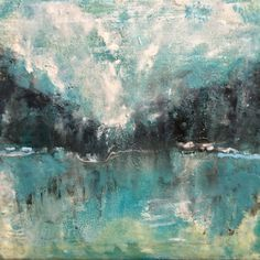 Dreamy landscapes in beeswax, encaustics. New work by Theresa Stirling.