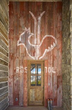 Barn wood Entry-Montana Reclaimed Lumber