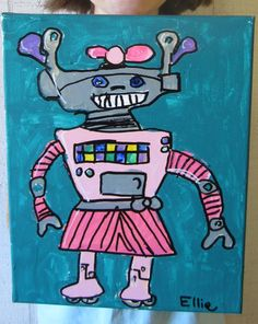 I used the How to Draw a Robot pages from Blue Tadpole Studio to give the students inspiration for their robot paintings. I never ...