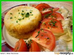 Smažený sýr z mikrovlnky Bread Baking, I Foods, Baked Potato, Cantaloupe, Potato Salad, Mashed Potatoes, Microwave, Hamburger, Muffin