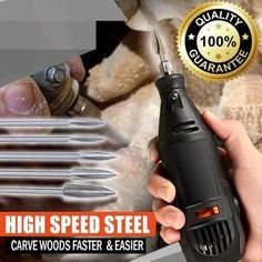 Diy Wood Projects, Wood Crafts, Dremel Wood Carving, Simple Wood Carving, Wood Carving Art, Drilling Tools, Cool Gadgets To Buy, High Speed Steel, Wood Tools