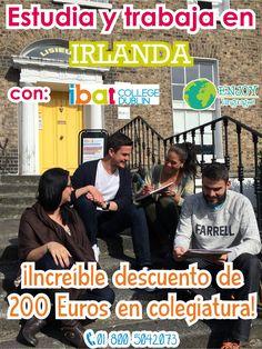 #Promocióndeldía #Irlanda en uno de los países que nos permiten trabajar siempre y cuando estemos estudiando un programa de inglés. Y estudiar con @Ibat te garantiza obtener grades descuento. Solicita información sin compromiso: 01 800 5042073 #EnjoyLanguages #Travel #Explore #EstudiaenelExtranjero