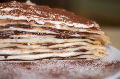 Mascarponés nutellás palacsinta torta Waffles, Pancakes, Muffins, Twisted Recipes, Crepe Cake, Mille Crepe, Crepes, Nutella, Food Videos