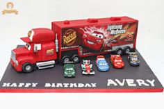 Mack the Truck cake for Avery. Small cars were die-cast and were added for photography purposes only. :)