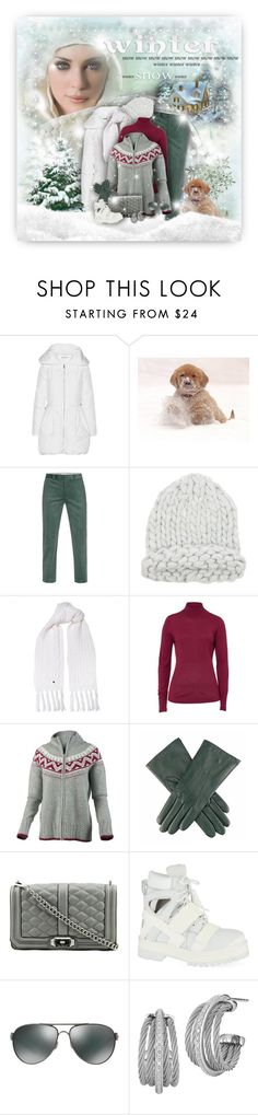 """""""Winter Snow Wishes"""" by helenehrenhofer ❤ liked on Polyvore featuring Alice + Olivia, Paul Smith, Woolrich, Basler, Obermeyer, Dents, Rebecca Minkoff, Hood by Air, Oakley and Charriol"""