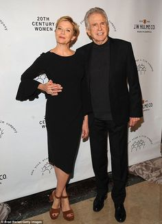 Back in black: Longtime couple Annette Bening and Warren Beatty donned matching black attire for the New York Stage & Film Winter Gala at The Plaza Hotel on Sunday