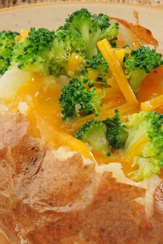 WW Broccoli, Ham, and Cheese Stuffed Potatoes #Recipe #Weight_Watchers