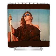 """Expedition"" shower curtain for sale! your choice of colors."