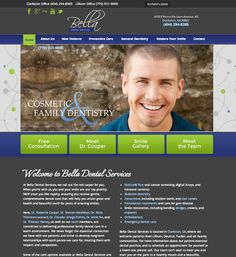 #sesamewebdesign #psds #dental #responsive #whimsical #blue #green #gray #top-nav #full-width #pattern #sans #serif #script