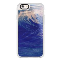 Blue Ocean Sea Wave Surf California Chill Summer Good Vibes - iPhone... ($40) ❤ liked on Polyvore featuring accessories, tech accessories, iphone case, iphone hard case, apple iphone cases, blue iphone case, iphone cover case and iphone cases