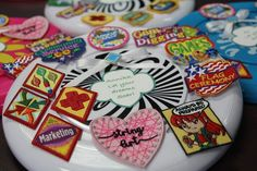 Fun and inventive ways to display badges and patches for your Girl Scout troop! Girl Scout Badges, Girl Scout Troop, Girl Scouts, Girl Scout Uniform, Girl Scout Patches, Hat Patches, Inventions, Projects To Try, Display