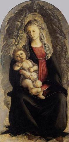 Sandro Botticelli - Madonna mit Kind und einer Glorie