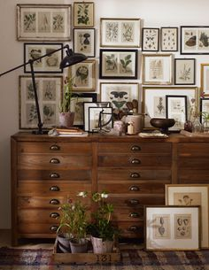 gallery of frames, table, lamp.... i want it all!... sigh!