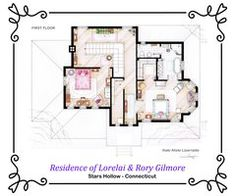 House of Lorelai and Rory Gilmore - Floorplans by ~nikneuk on deviantART