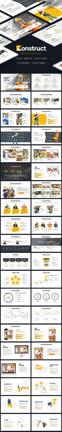 Konstruct - Construction & Architecture Theme Keynote Template - Keynote Templates Presentation Templates