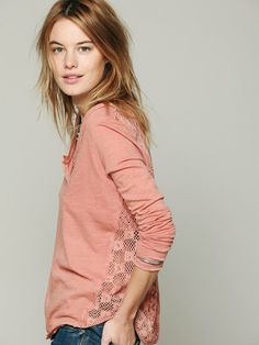 Free People Patches Of Lace Henley, €37.60